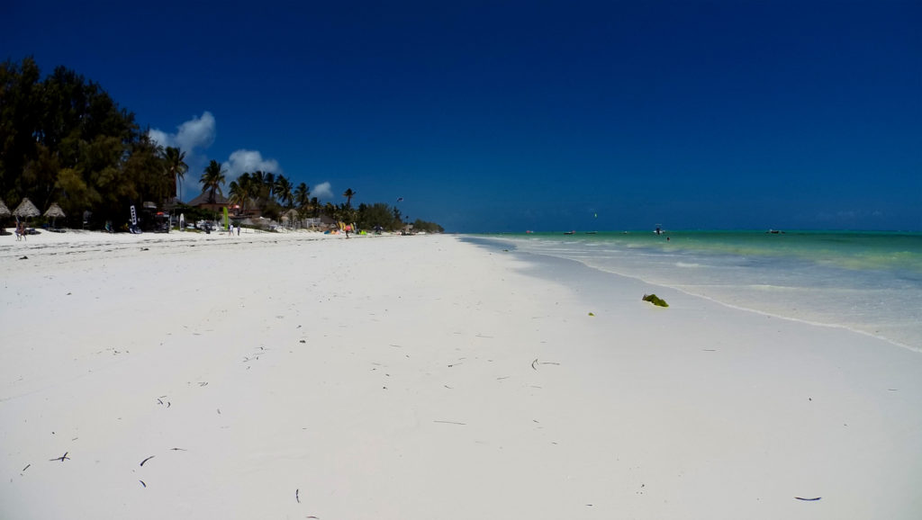 La spiaggia di Paje a Zanzibar