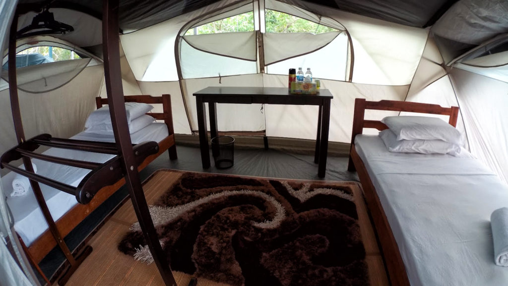 La tenda del Walai Penyu Resort a Pulau Libaran
