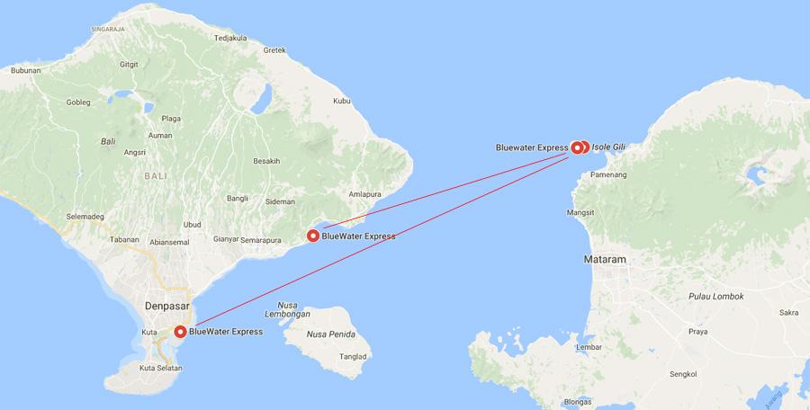 Tratte traghetti Bali-Gili