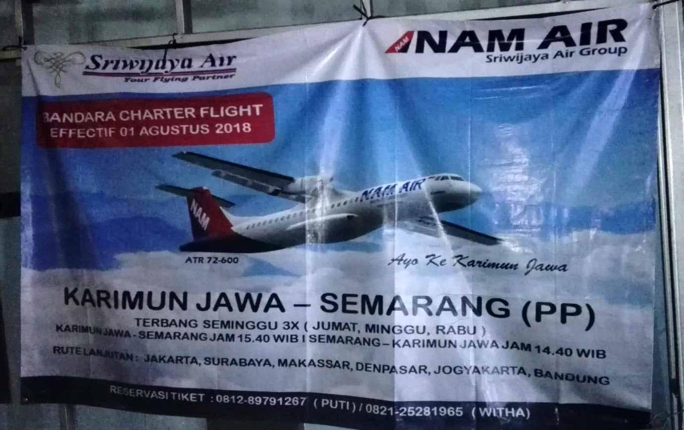 Cartellone Nam Air volo Karimunjawa Semarang