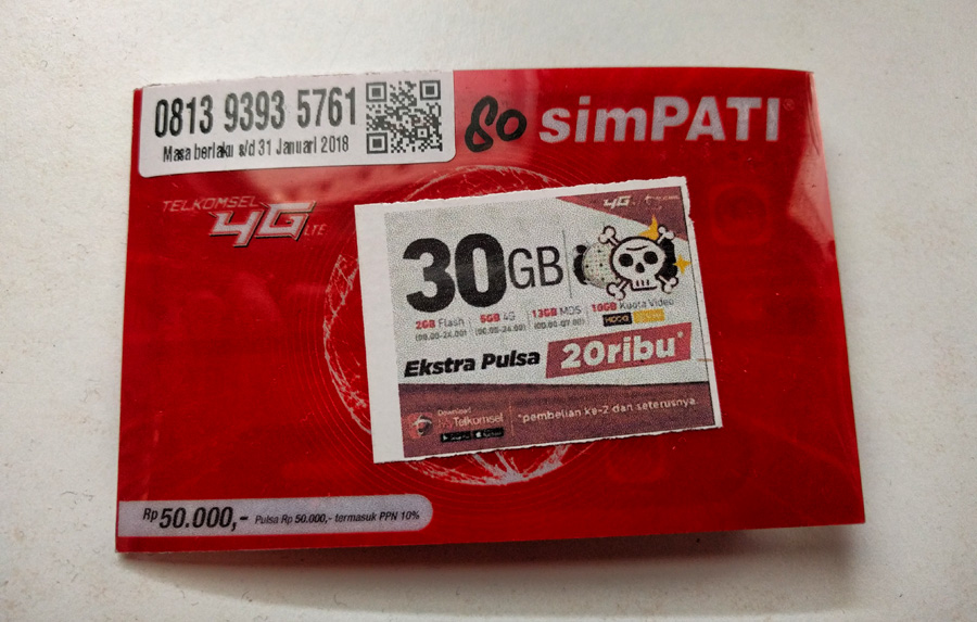 SIM card indonesiana