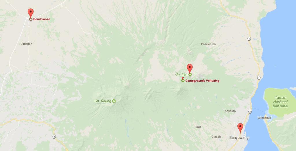 Cartina Kawah Ijen