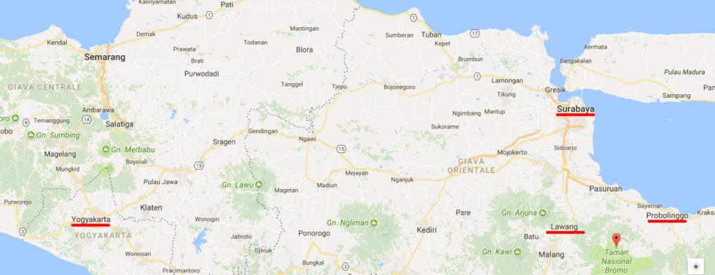 Da Yogyakarta a Monte Bromo
