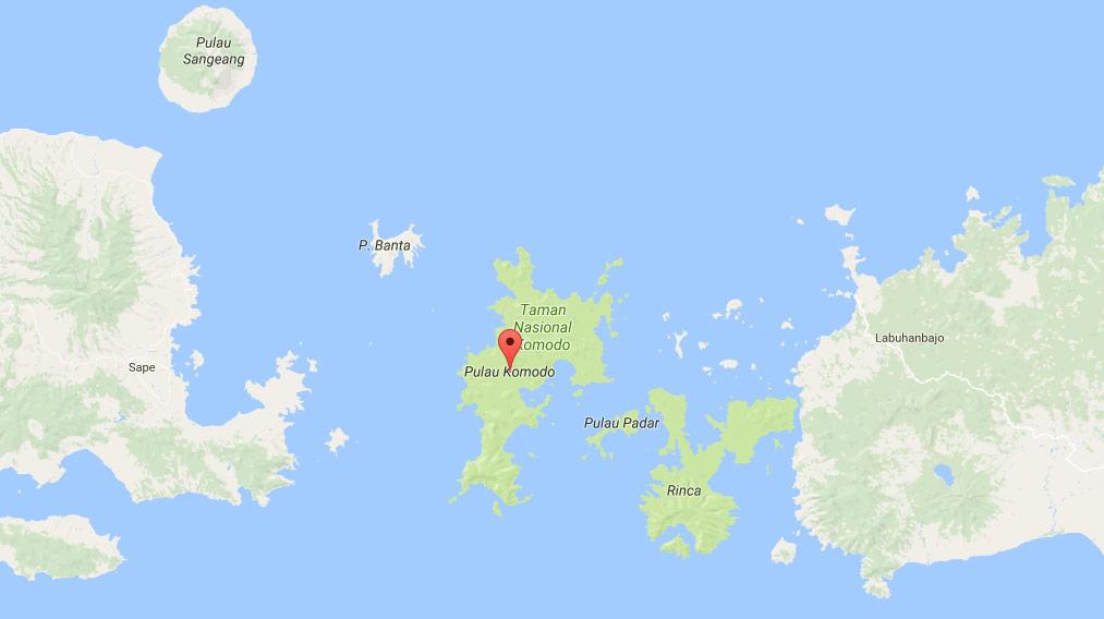 Mappa isola di Komodo