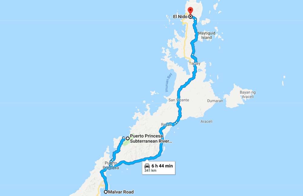 Cartina di Palawan