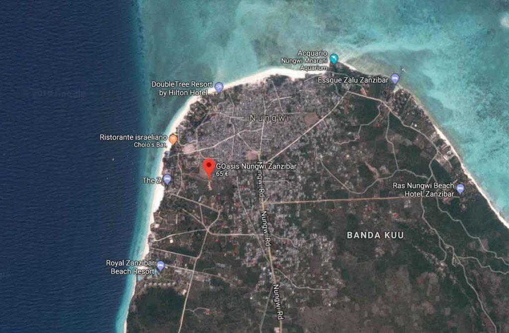 Cartina GOasis Zanzibar