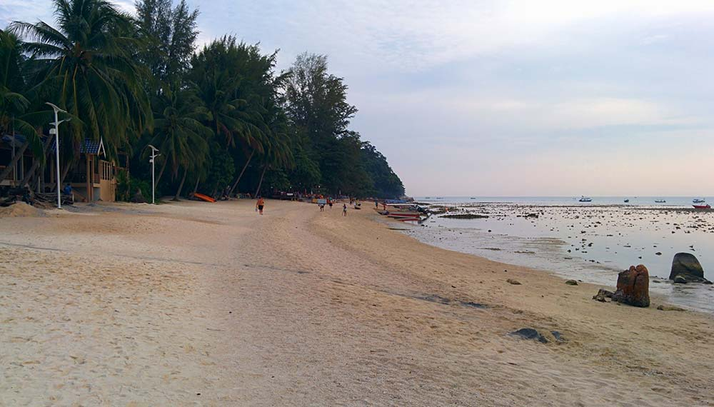 Perhentian Besar: spiaggia al tramonto