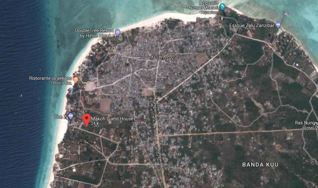 Posizione Makofi Zanzibar