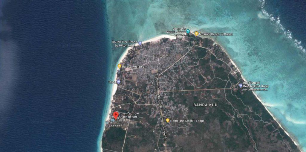 Posizione Royal Zanzibar Beach Resort