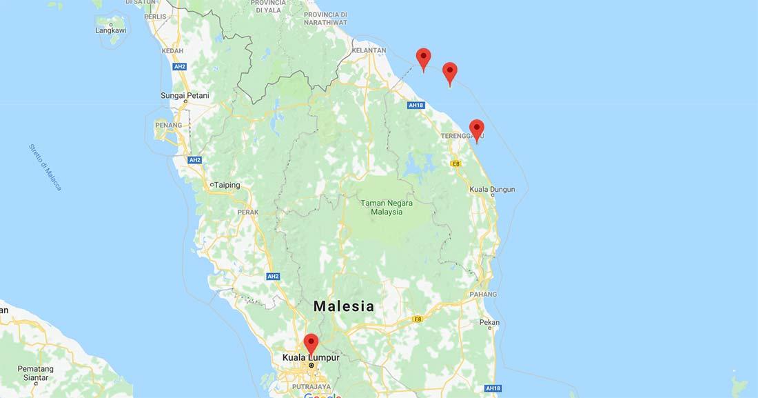 Cartina Isole Malesia peninsulare