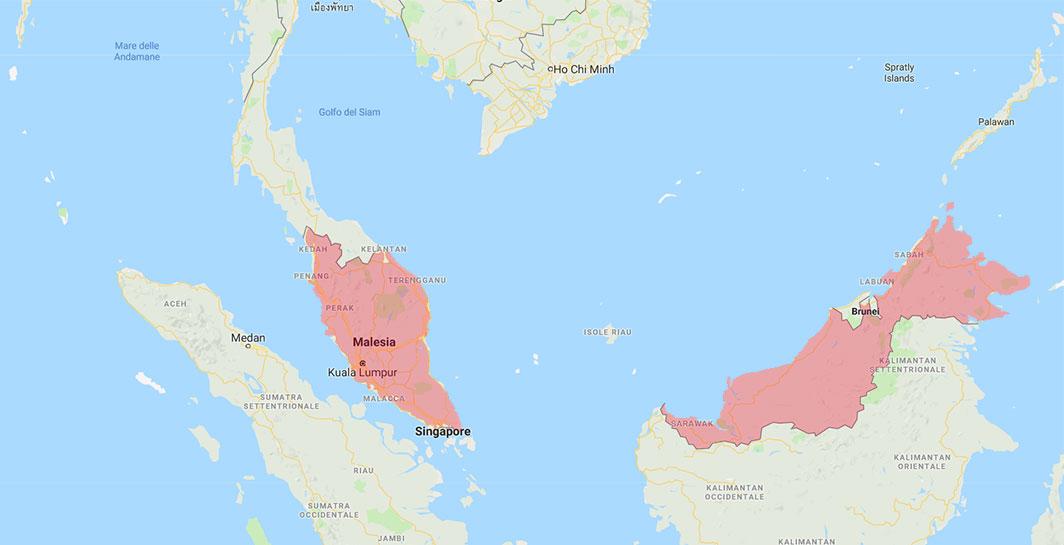 Malesia cartina