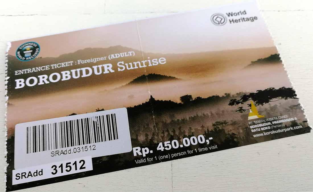 Biglietto Borobudur