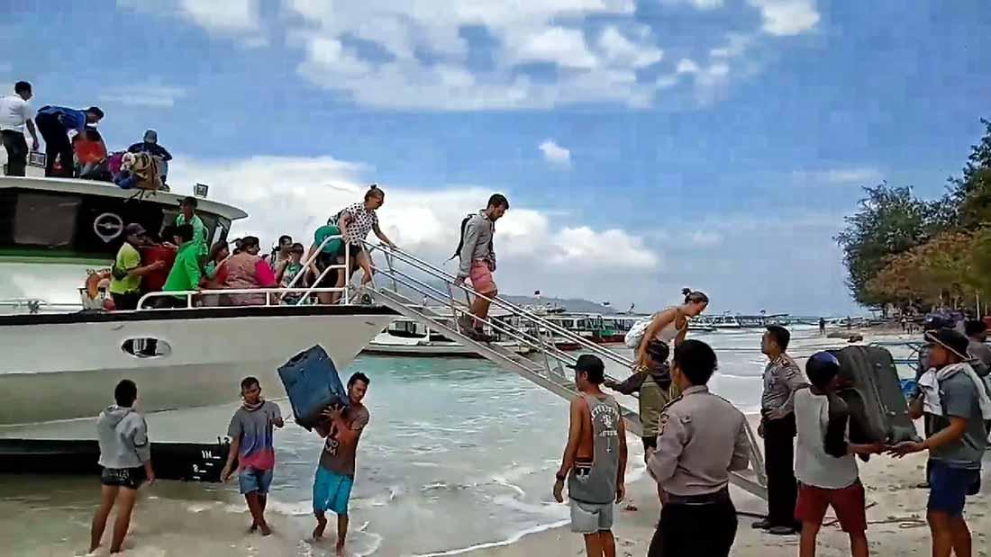 Isole Gili dopo terremoto