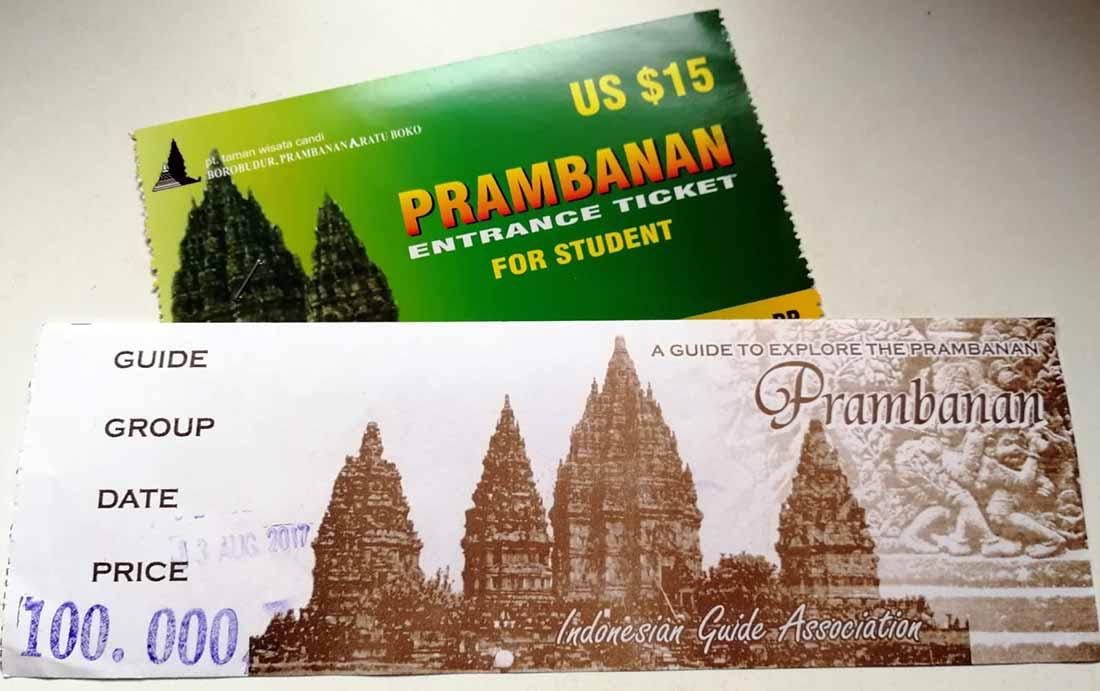 Biglietto ingresso Prambanan