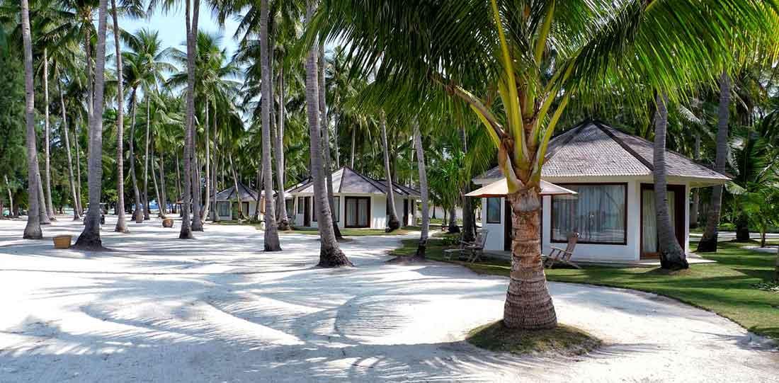 Il giardino del Kura Kura Resort Karimunjawa