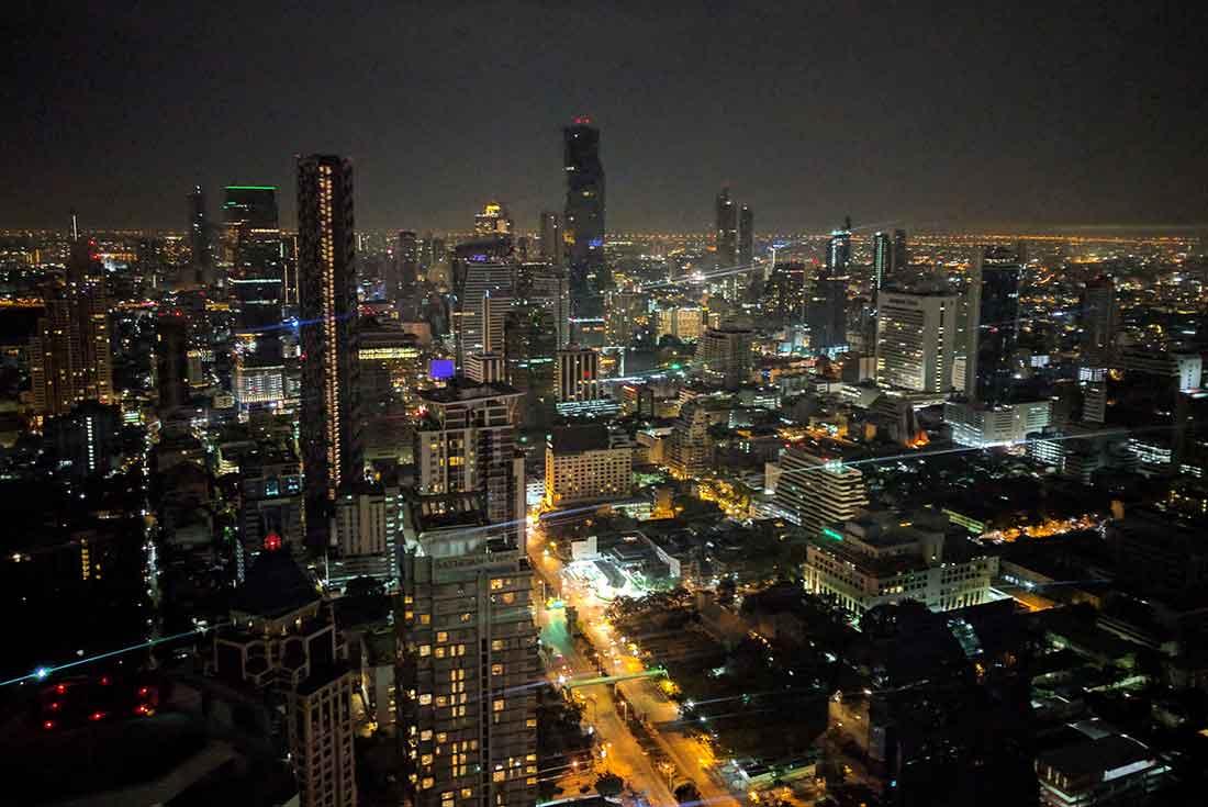 Vista di Bangkok dal Vertigo sky bar