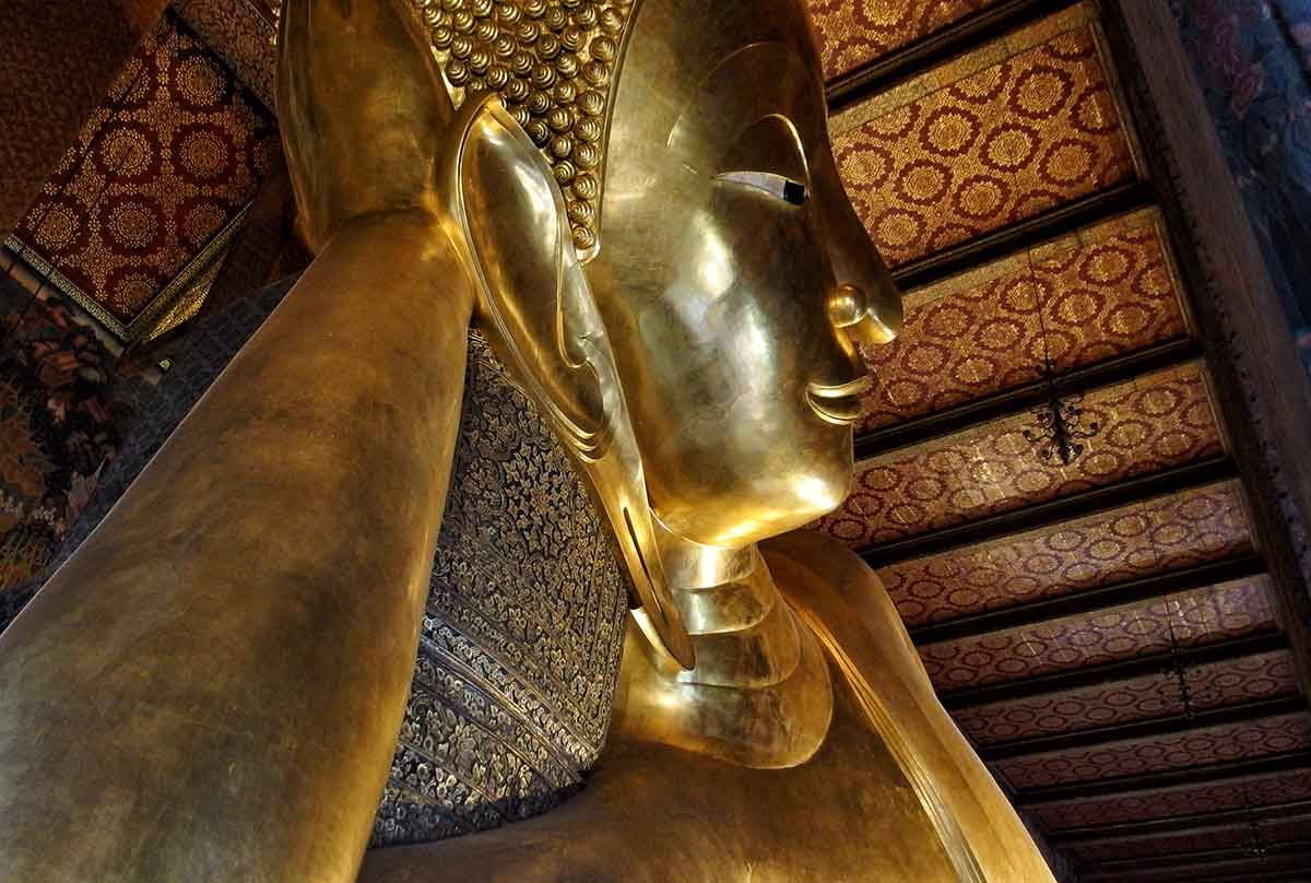 Il Grande Buddha sdraiato al Wat Pho, Bangkok