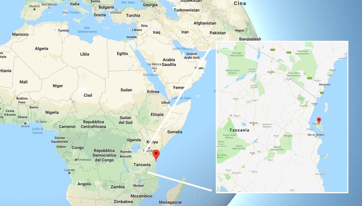 Zanzibar e la cartina dell'Africa