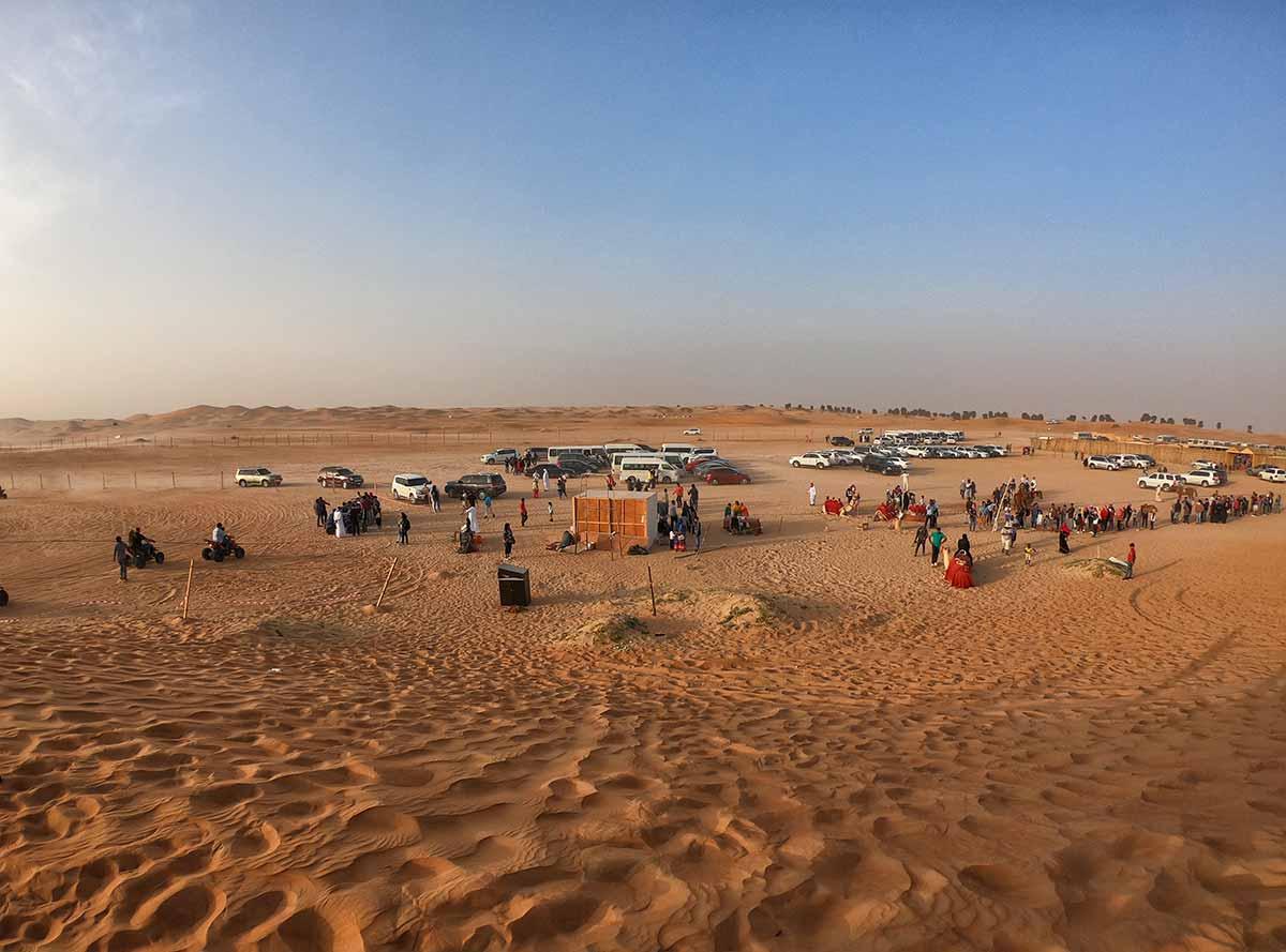 Campo base escursione deserto Dubai