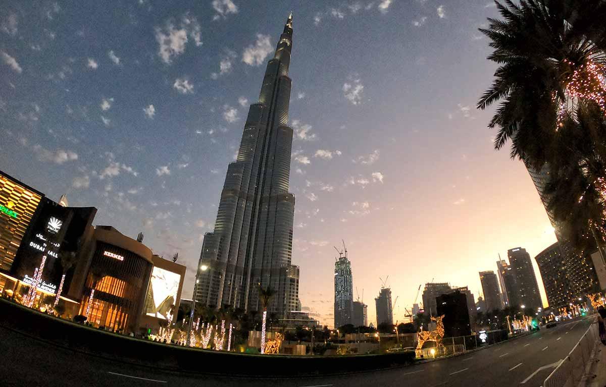 Il Burj Khalifa la sera di Capodanno