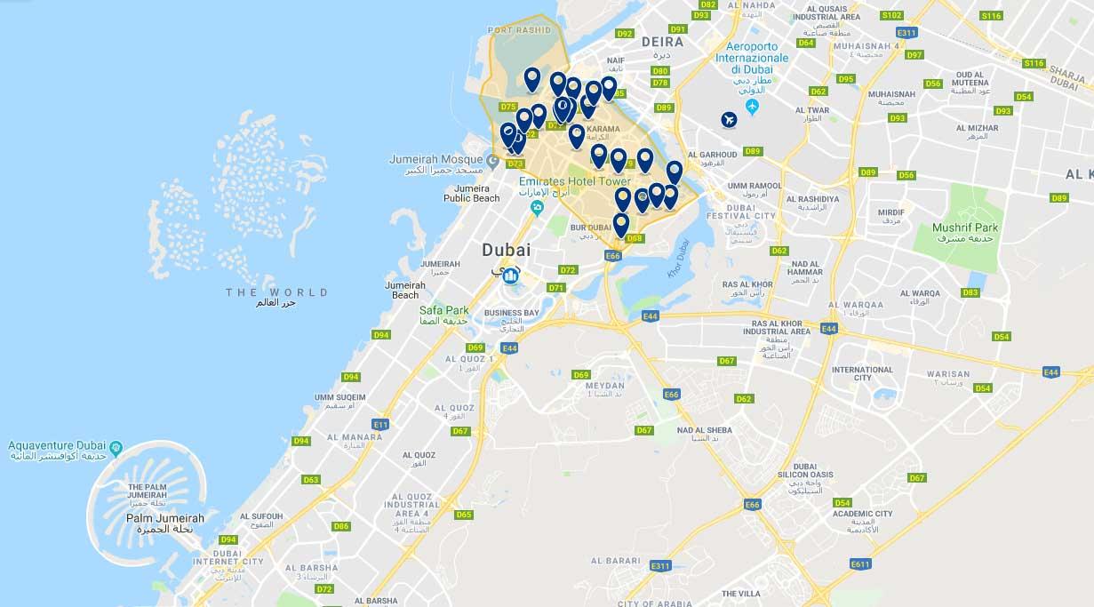 Mappa di Bur Dubai
