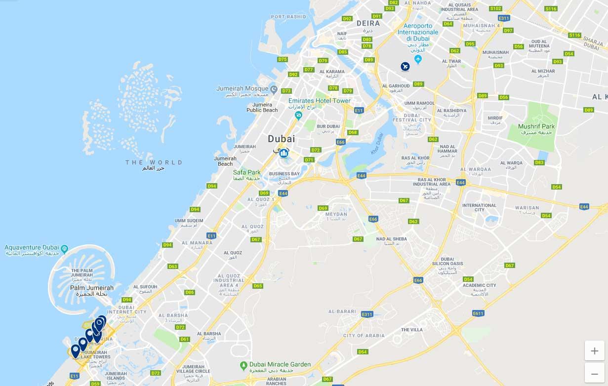 Mappa Dubai Marina