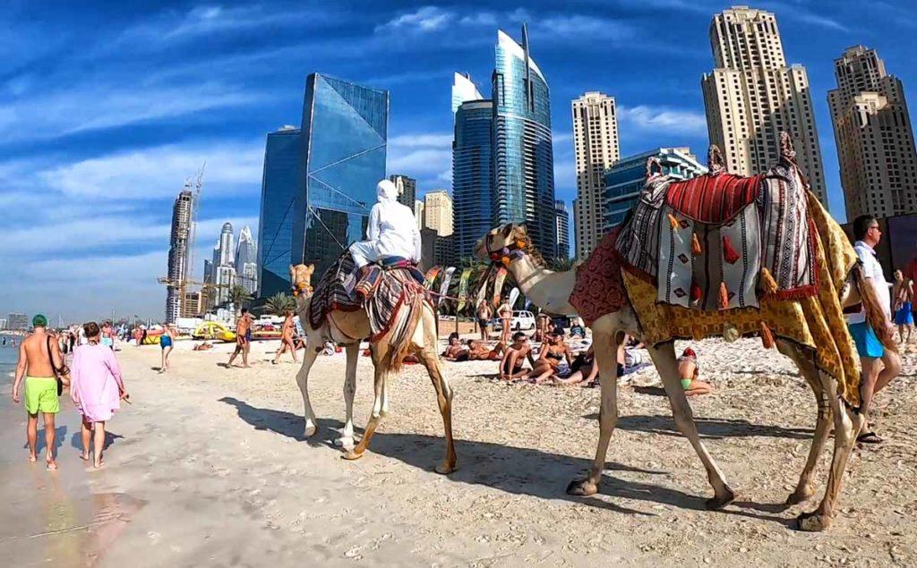 La spiaggia di Dubai Marina