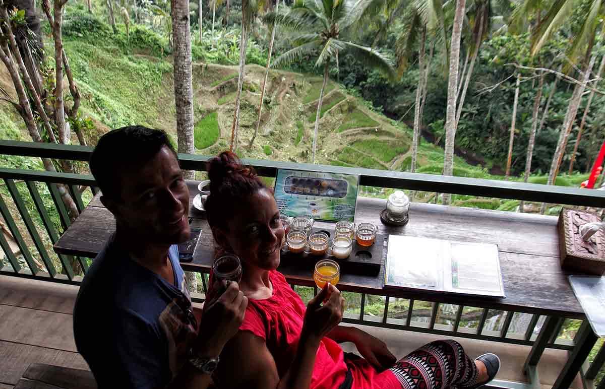 Degustazione tè e caffè a Ubud