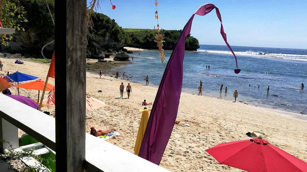 Bali, pranzo a Blang Beach