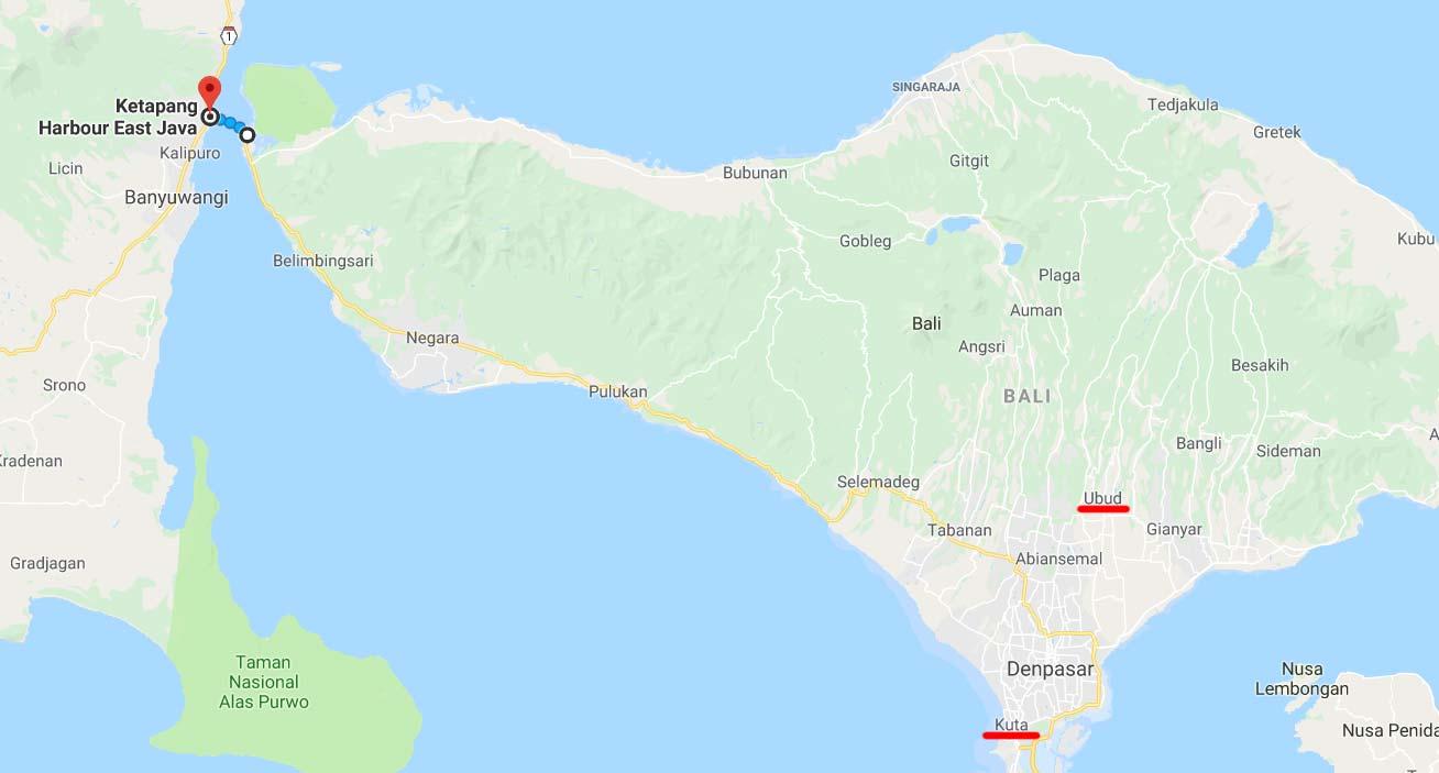 Cartina di Bali