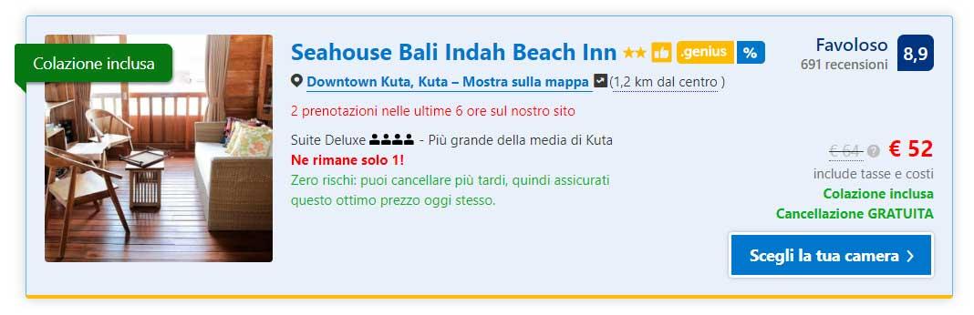 Alloggio a Bali, Seahouse Bali Indah Beach Inn