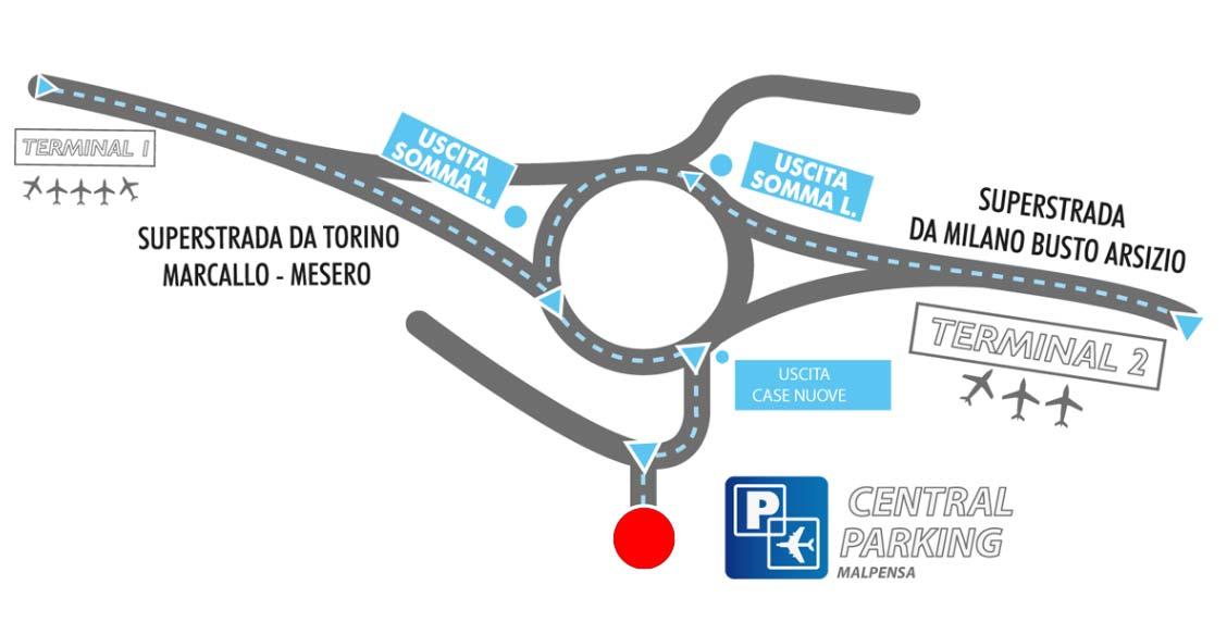 Mappa parcheggi Malpensa