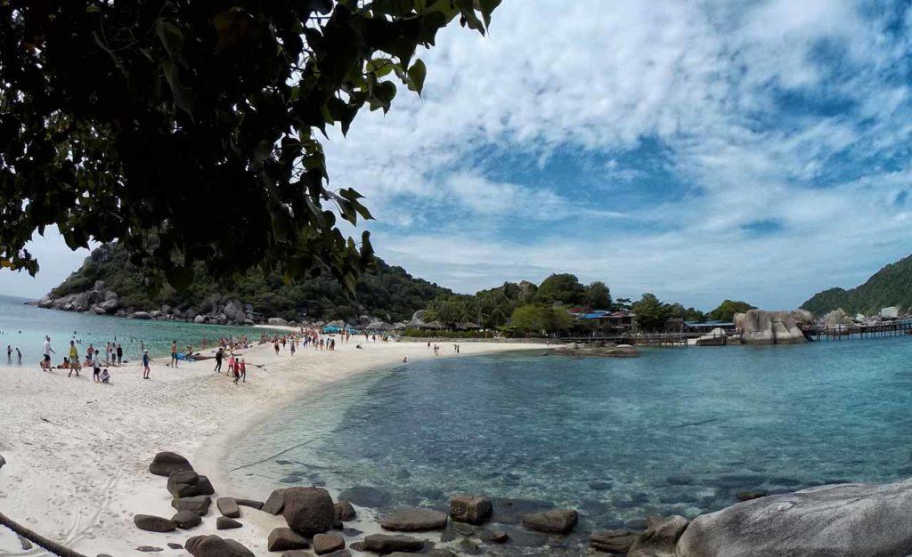 La striscia di sabbia di Koh Nang Yuan