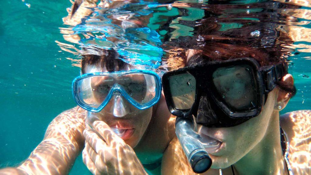 Maschere per respirare sott'acqua