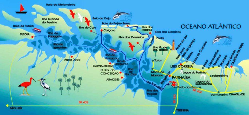 Cartina delta Rio Parnaiba