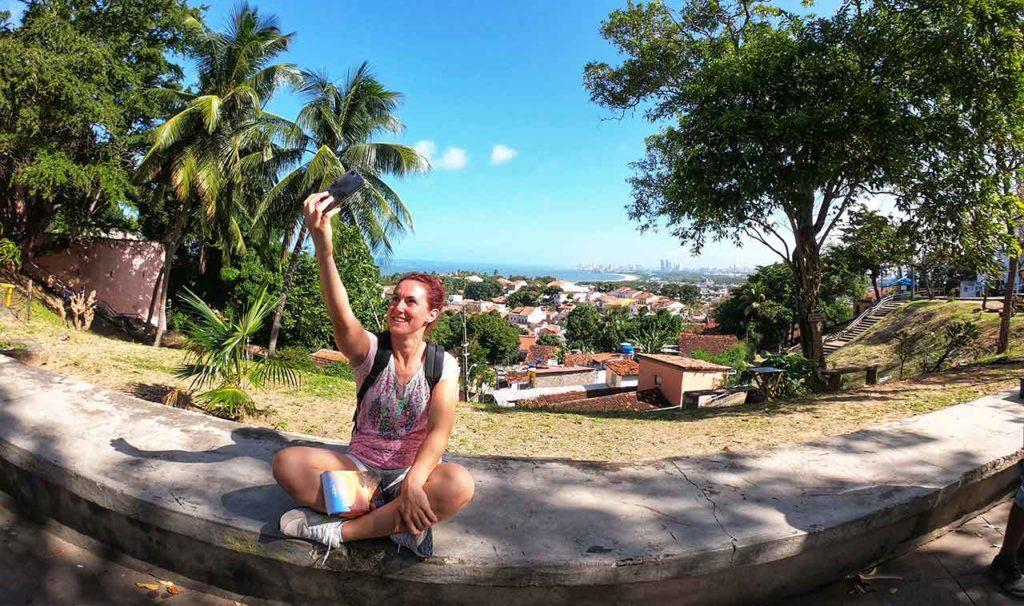 Olinda, in lontananza Recife