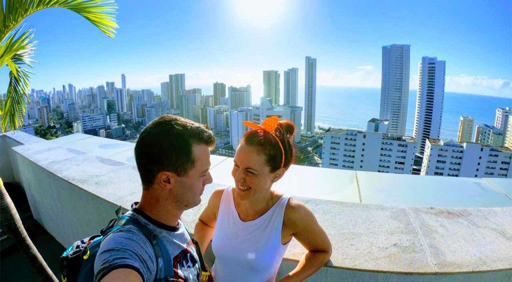 Recife, vista dalla terrazza dell'hotel Ramada Boa Viagem