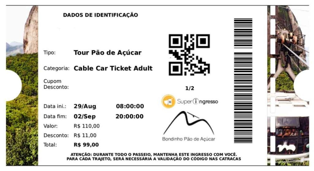 Biglietto Pan di Zucchero