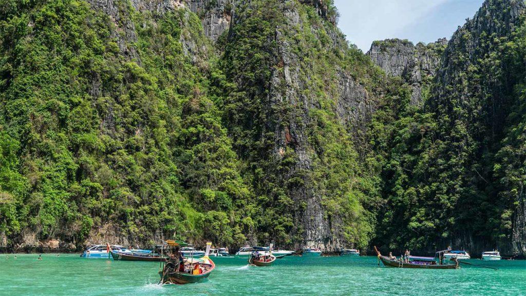Il mare delle isole Phi Phi