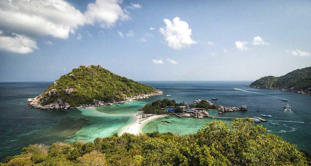 Il piccolo isolottoo di Koh Nang Yuan, a pochi metri dalla riva di Koh Tao