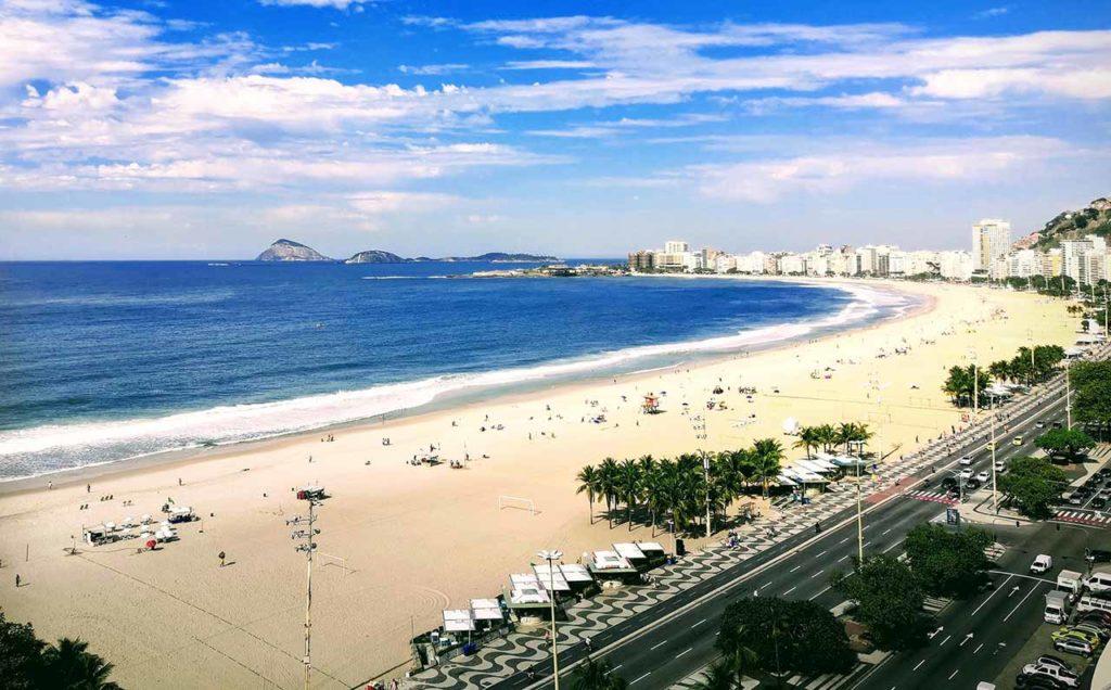 Rio de Janeiro, la vista su Copacabana dal mio hotel