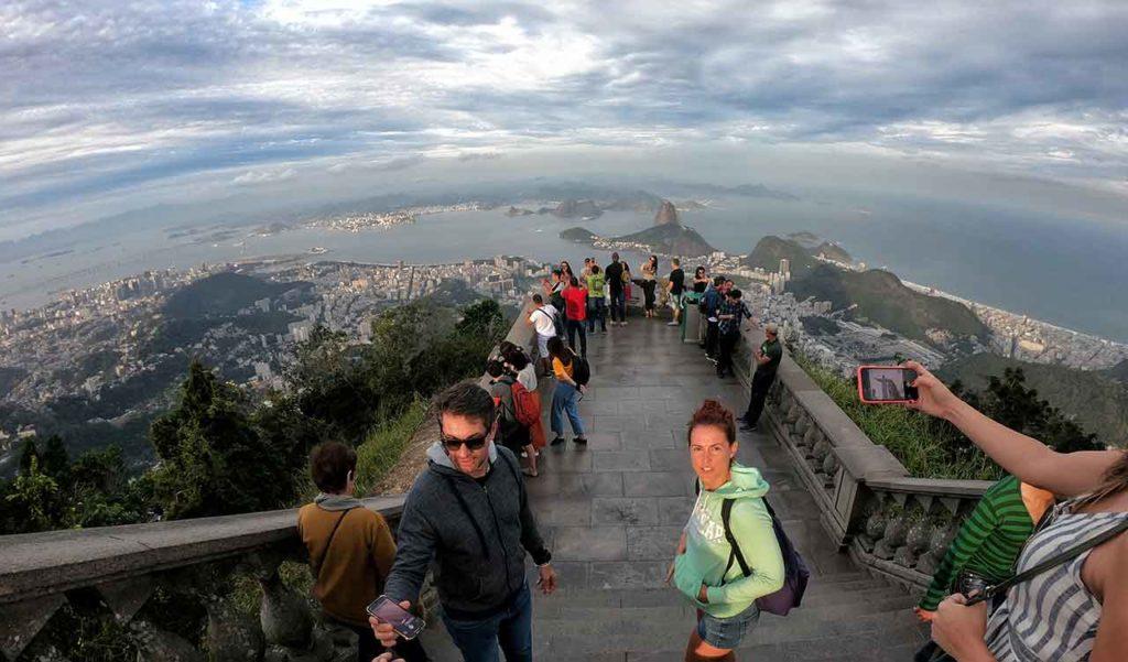 Panorama su Rio de Janeiro dal Cristo Redentor