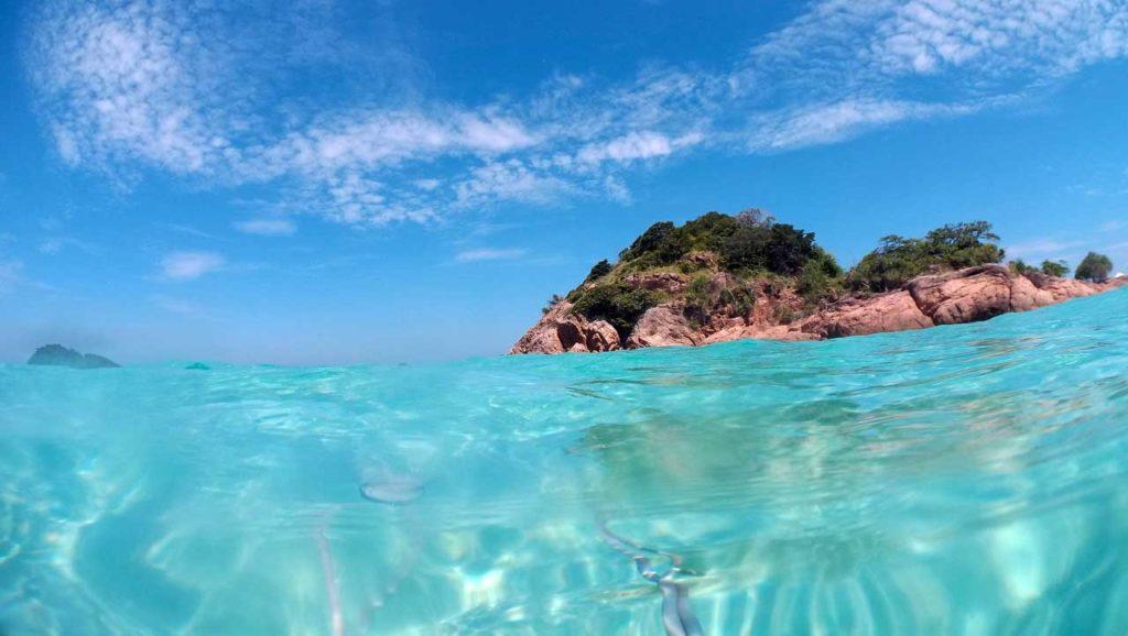 Il mare di Redang e i suoi colori