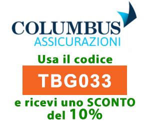 Codice sconto assicurazione Columbus
