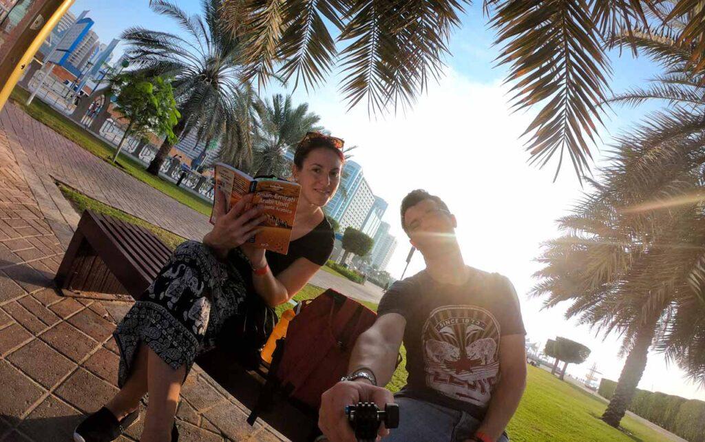 Marta Marcomini a Dubai sul lungomare