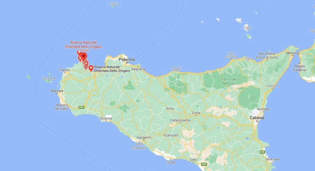 Cartina Riserva dello Zingaro