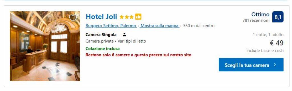 Hotel Joli a Palermo