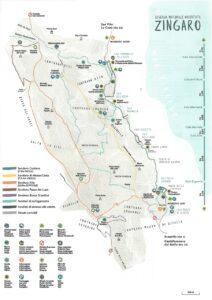 Mappa Riserva dello Zingaro con percorsi