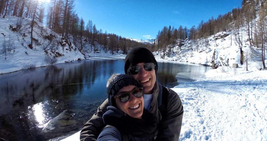Il Lago delle Streghe all'Alpe Devero in inverno