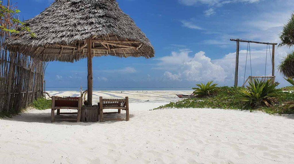 Vista sulla spiaggia di Paje dall'Ananda Beach Bungalow